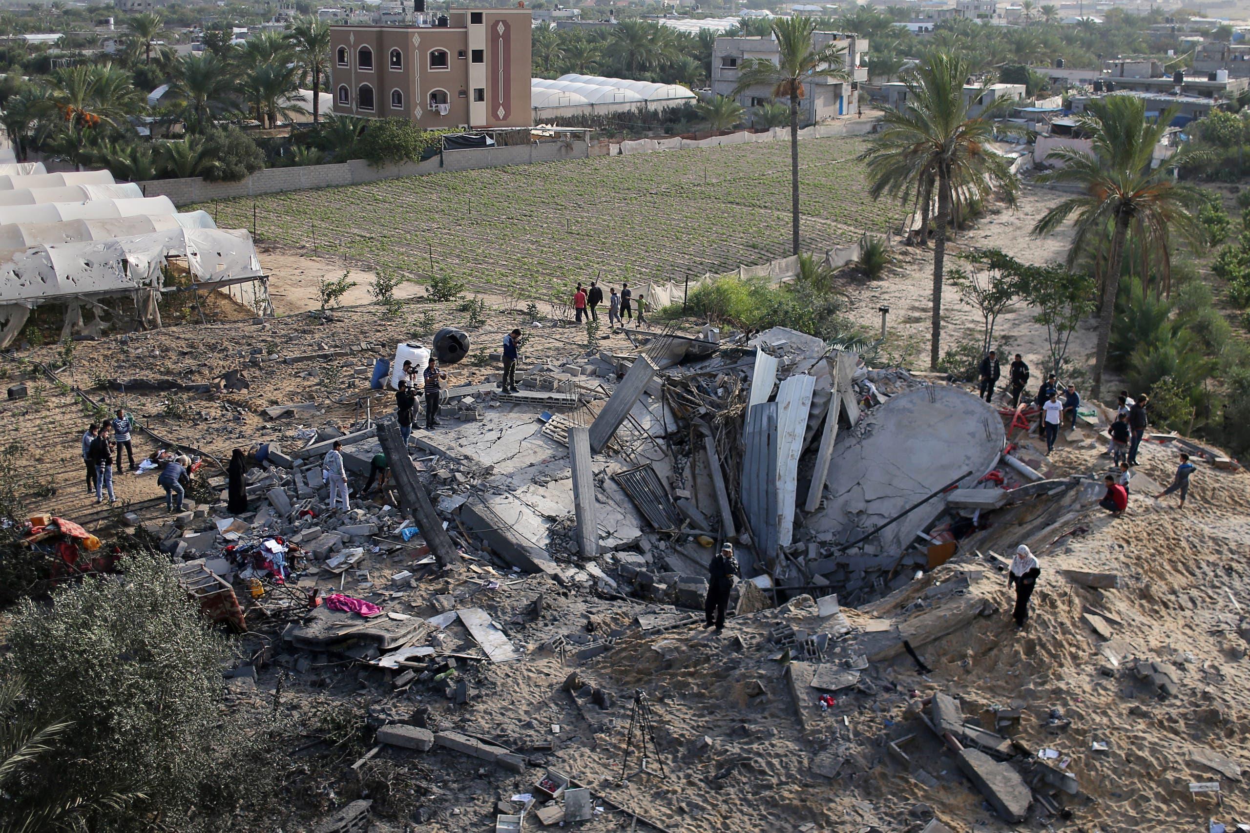 منزل مدمر في غزة جراء القصف الإسرائيلي