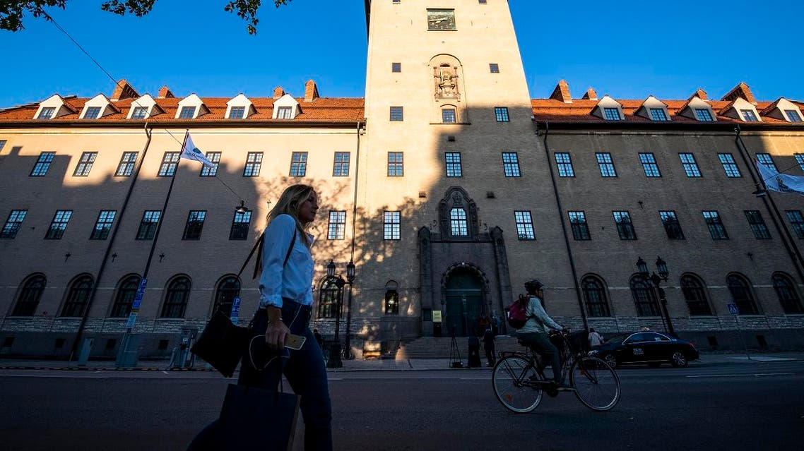A general view of the district court in Stockholm on September 19, 2018. (AFP)