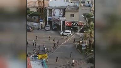 لبنان.. مسلح يطلق النار بين المتظاهرين في جل الديب والأمن يعتقله