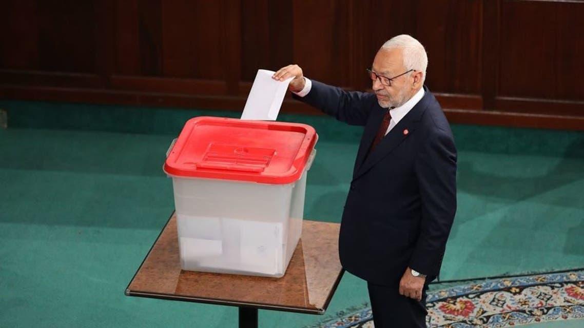 تصويت الغنوشي لرئاسة البرلمان