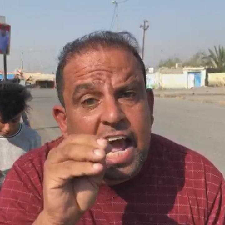 شاهد.. محتجو البصرة يرفضون أحزاباً موالية لإيران