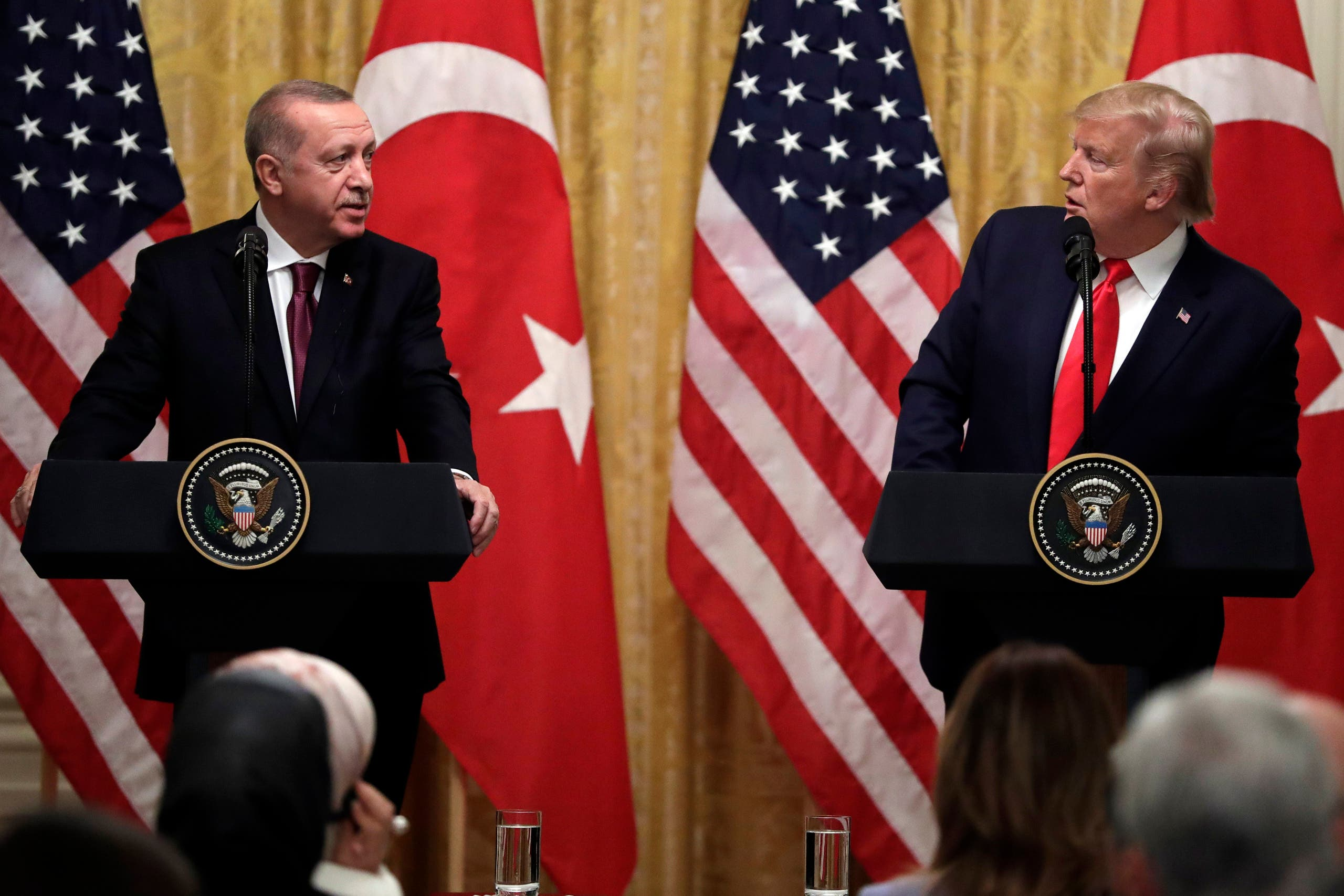 President Donald Trump speaks during a news conference with Turkish President Recep Tayyip Erdogan at the White House on Nov. 13, 2019, in Washington. (AP)