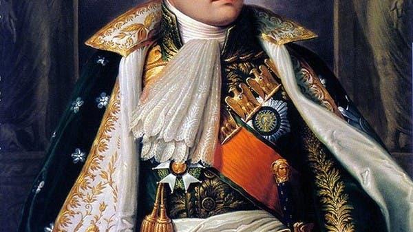 لوحة زيتية تجسد الإمبراطور الفرنسي نابليون بونابرت