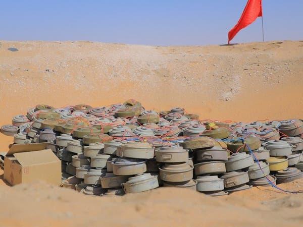 """شاهد.. """"مسام"""" يتلف مئات الألغام الحوثية شمال الجوف"""