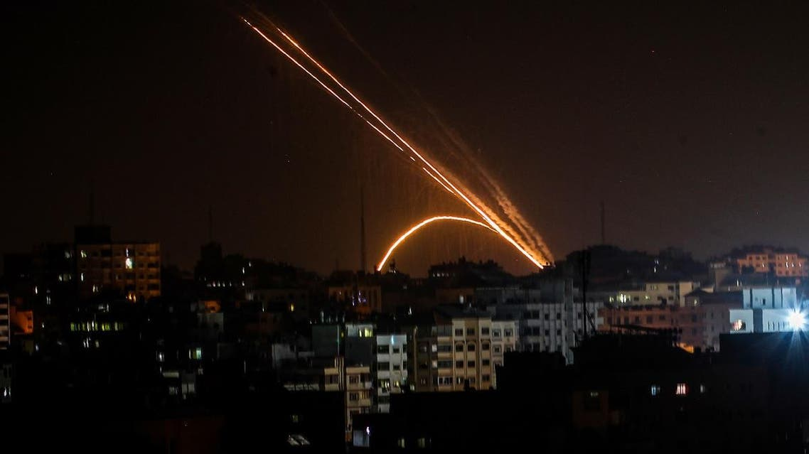 Rockets are fired from the Gaza Strip toward Israel on November 13, 2019. (AFP)