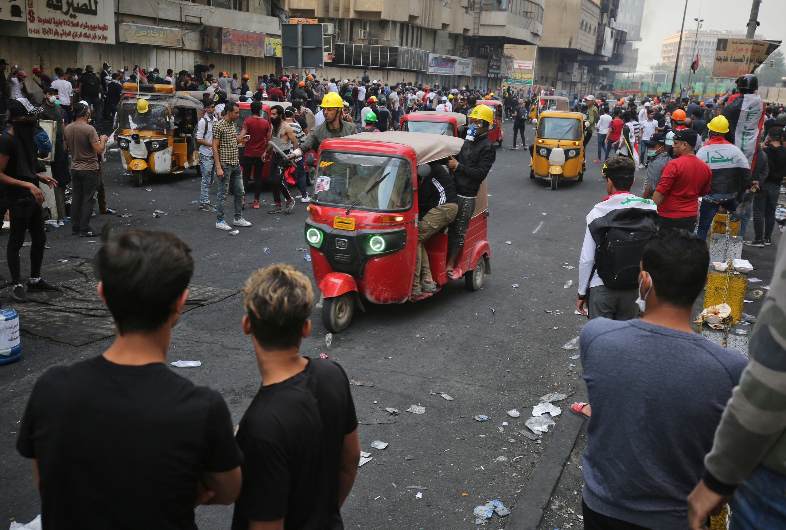 من ساحة الخلاني في بغداد الخميس