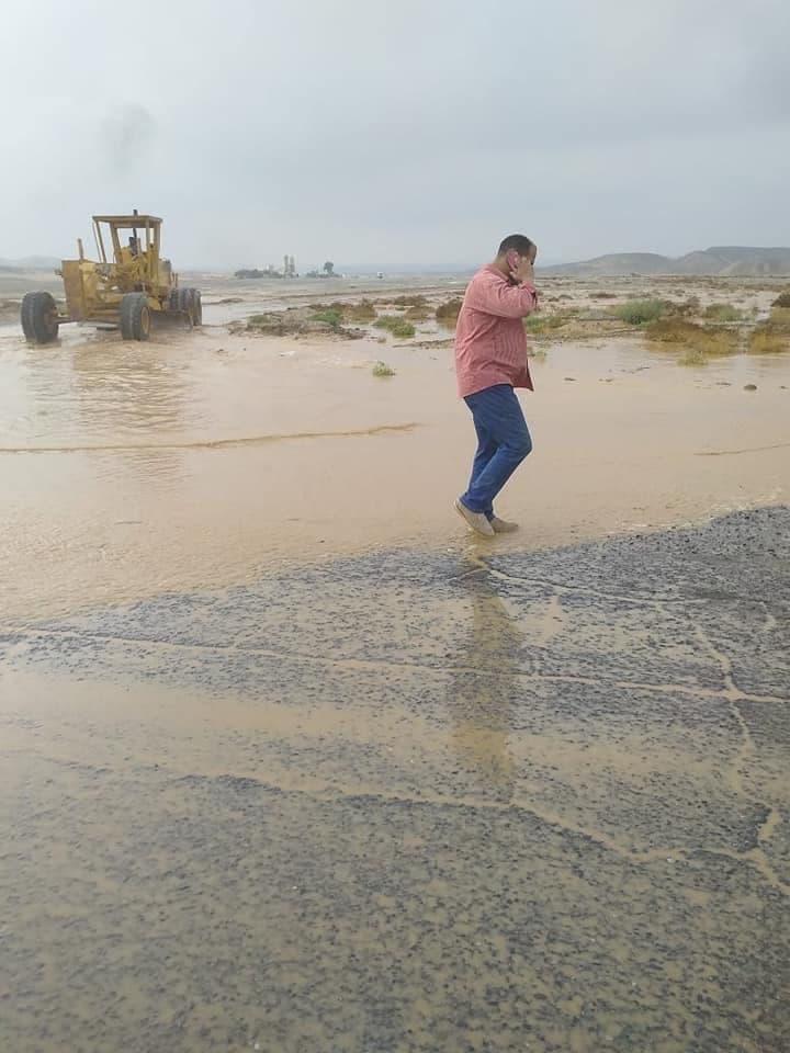 صور للأمطار التي سقطت على محافظة البحر الأحمر الخميس
