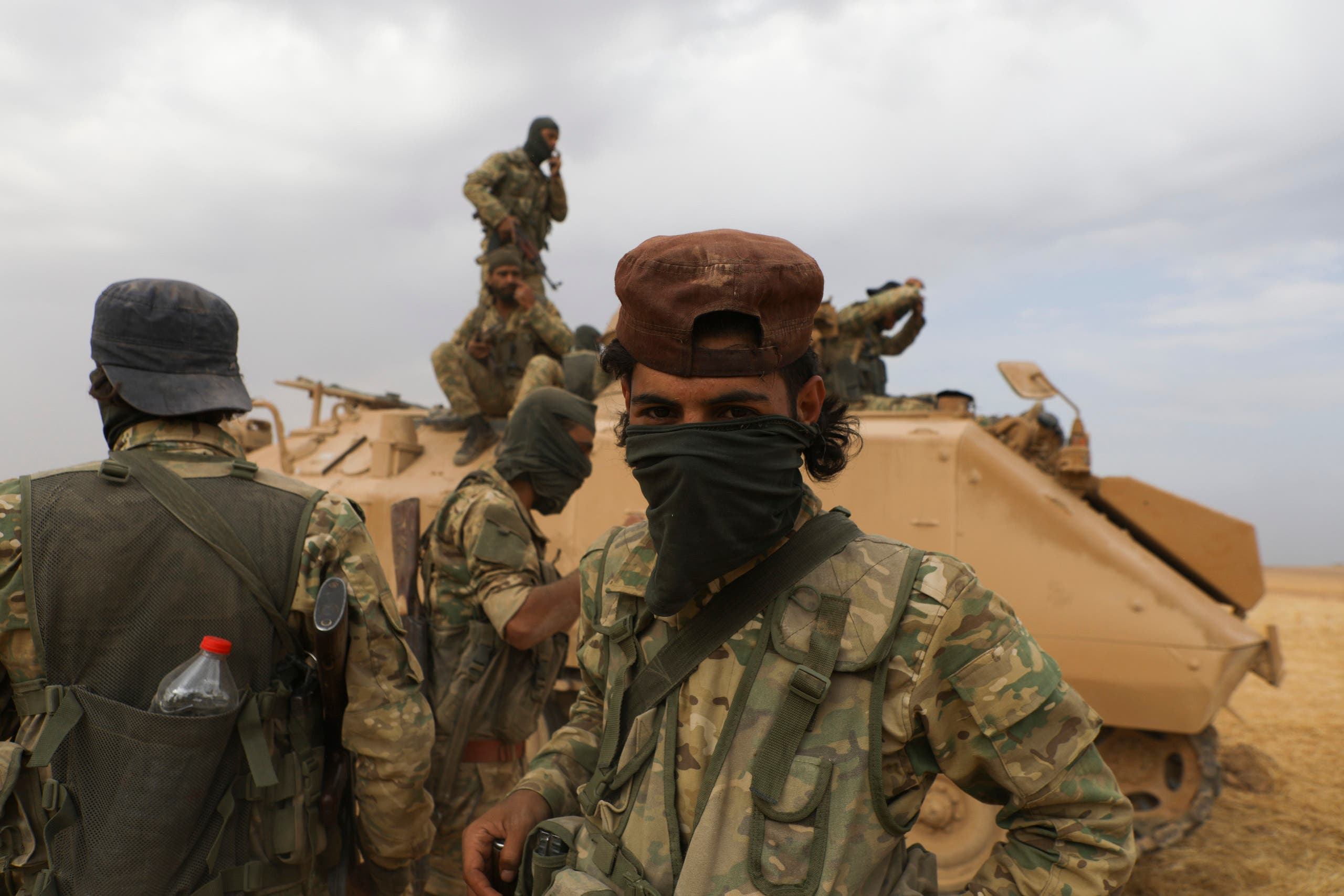 عناصر من فصائل سورية موالية لتركيا