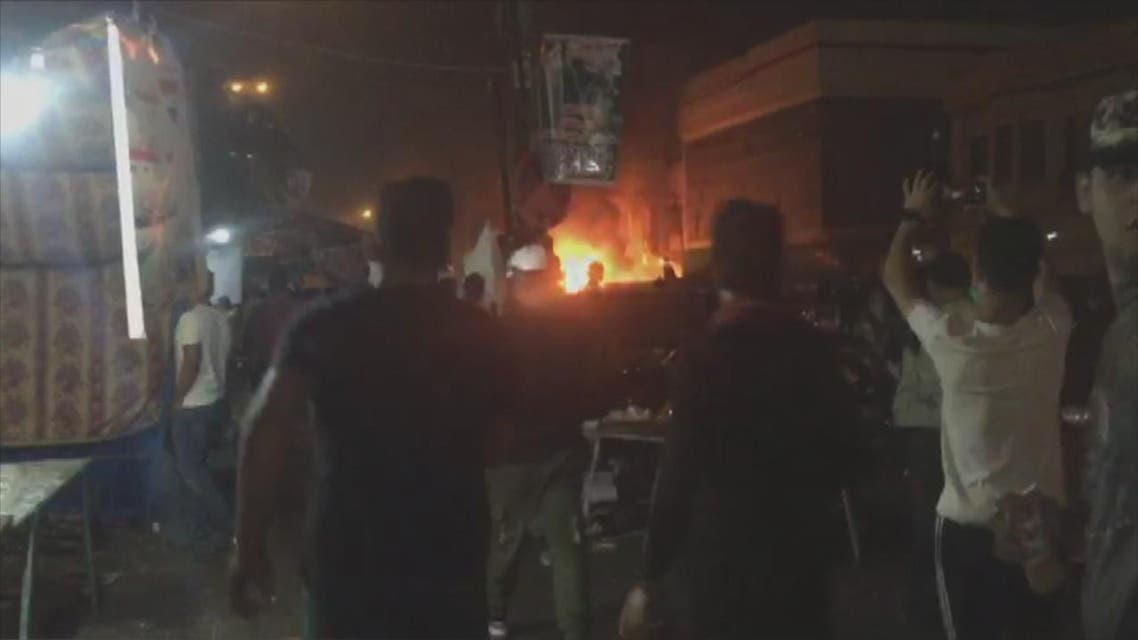THUMBNAIL_ شاهد  لحظة انفجار سيارة مفخخة بساحة التحرير  في بغداد