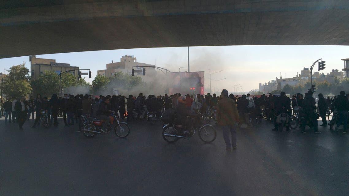 احتجاجات ايران 16 نوفمبر اسوشيتد برس