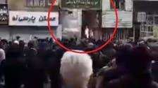 ایران میں مشتعل ھجوم نے 'باسیج فورس' کے ایک مرکز کو آگ لگا دی
