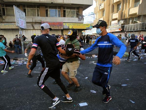 صدامات وسط بغداد.. وتظاهرات رافضة للأحزاب