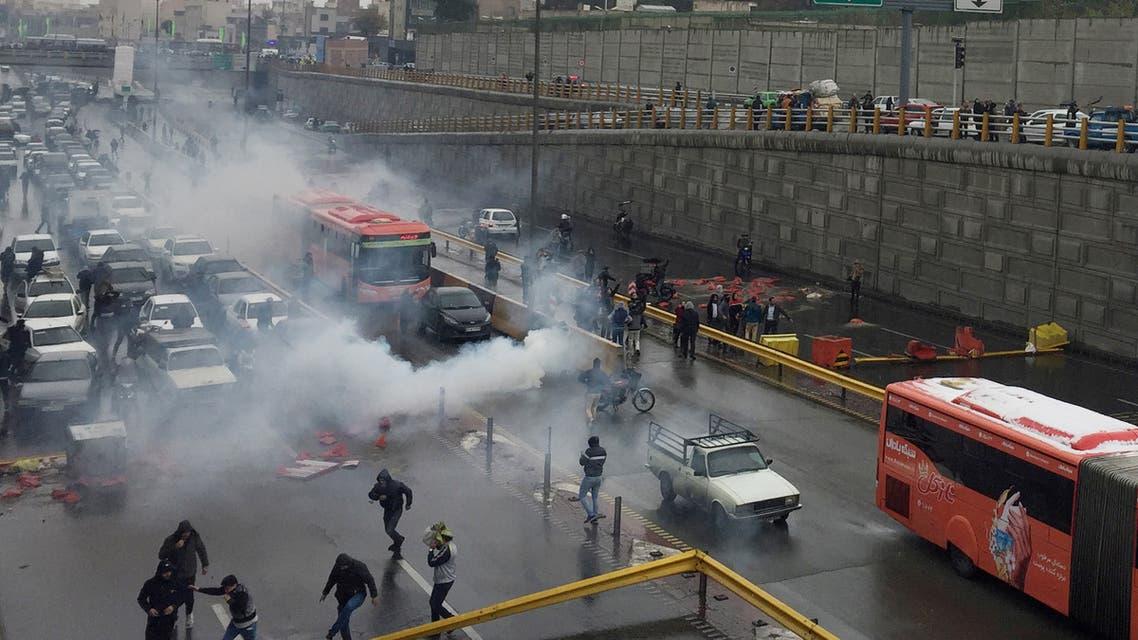 من احتجاجات إيران(رويترز)