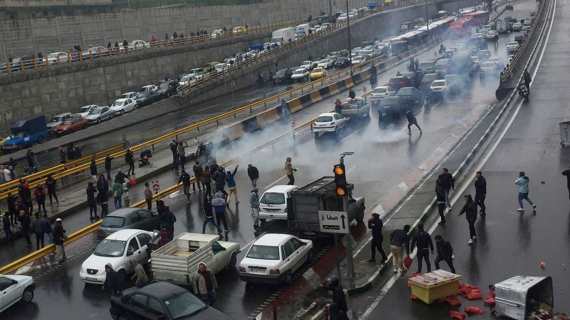 طهران احتجاجات بنزين
