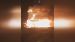 آتش زدن یکی ازمقرهای بسیج در تهران