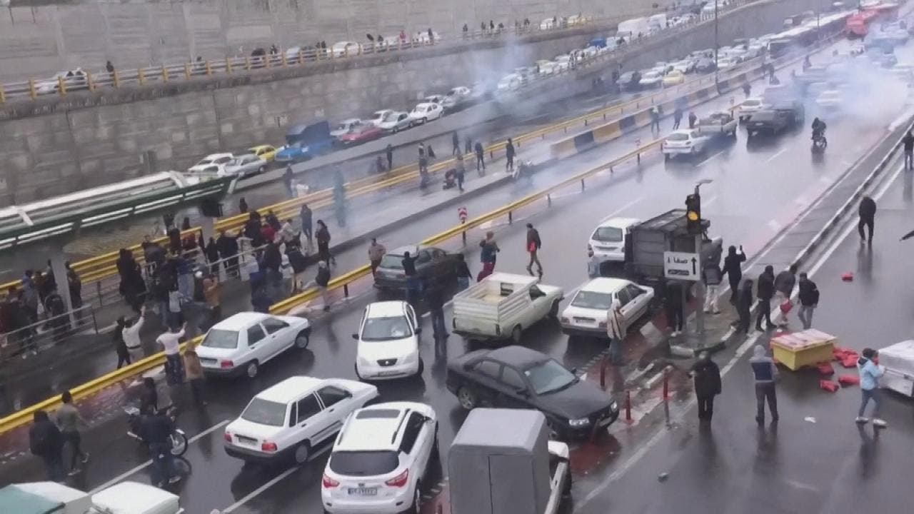 من الاحتجاجات الإيرانية