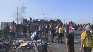 بسته شدن ورودی بندر ام قصر از سوی معترضان عراقی