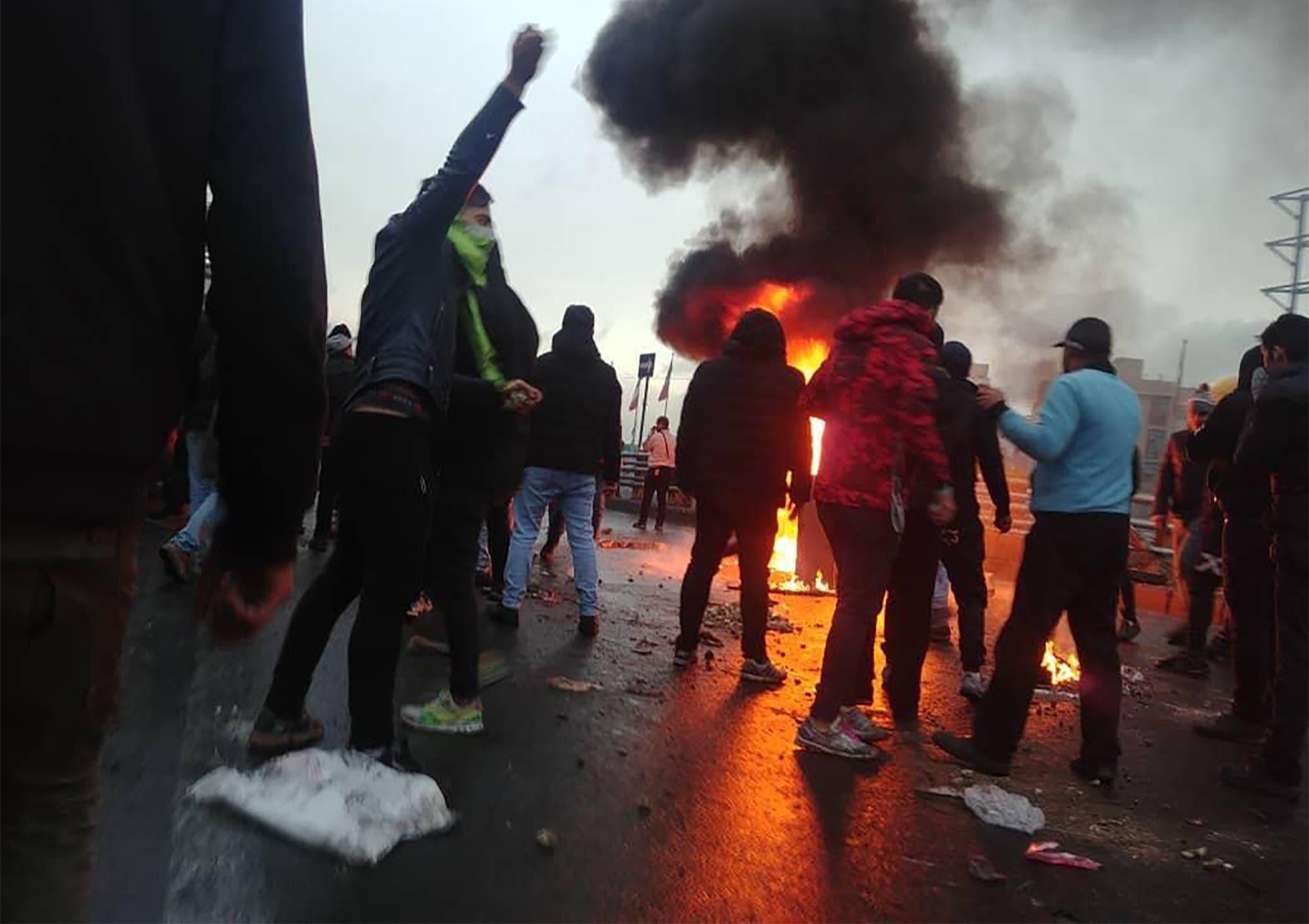 من احتجاجات سابقة في إيران