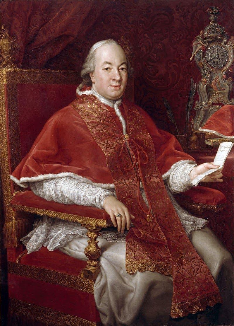 لوحة زيتية تجسد البابا بيوس السادس