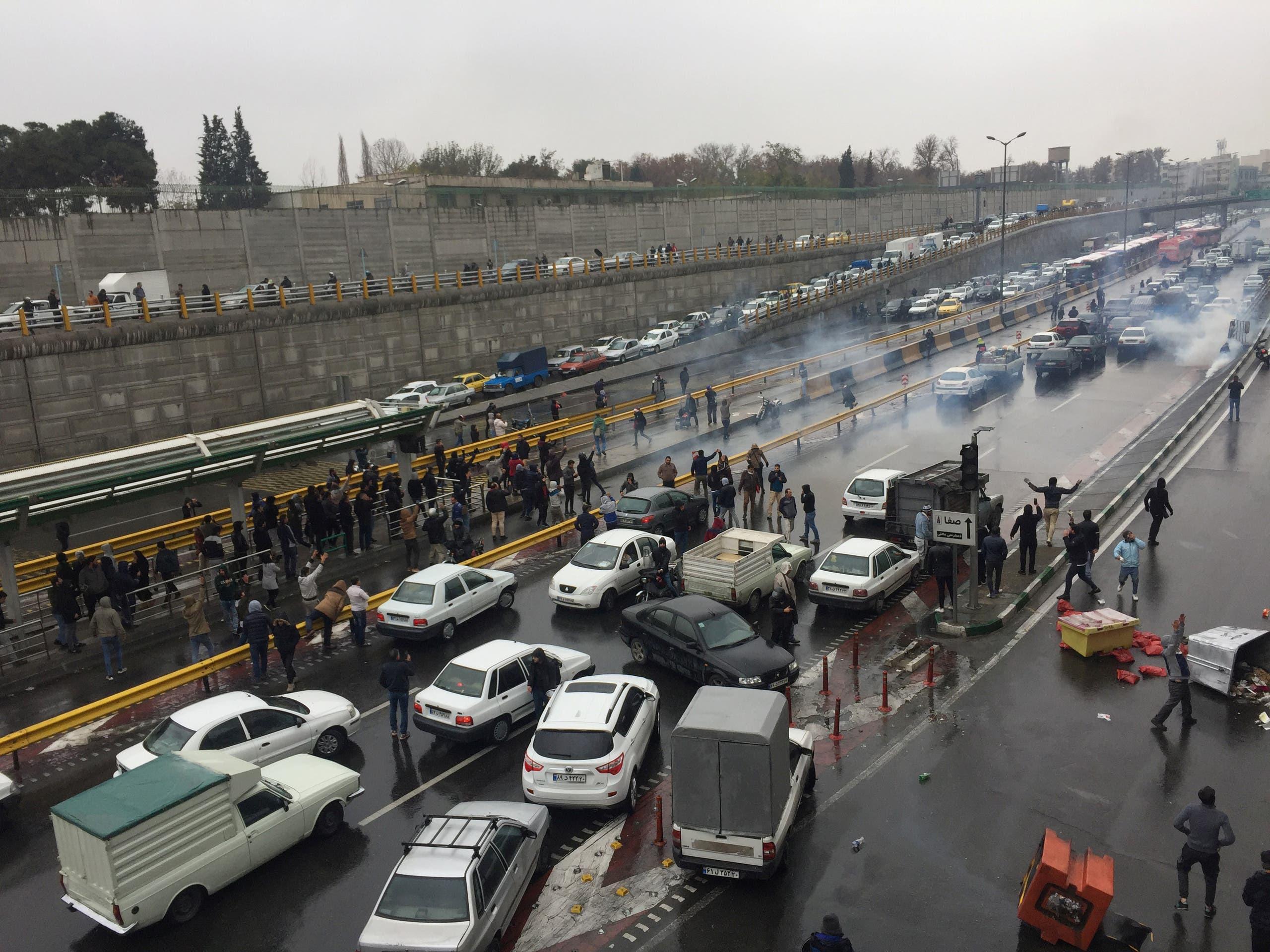 من تظاهرات إيرانية سابقة