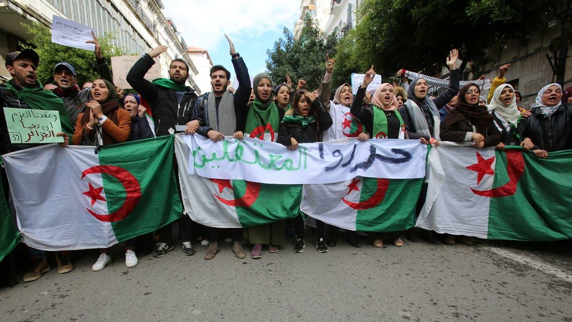 Demonstrators Algiers Algeria November 19 2109 REUTERS