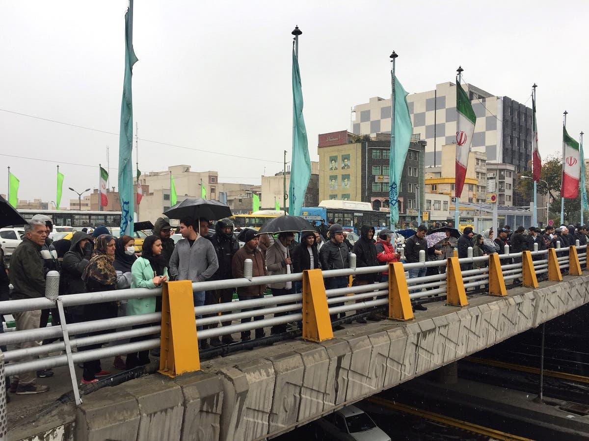 من الاحتجاجات التي عمت إيران في نوفمبر 2019