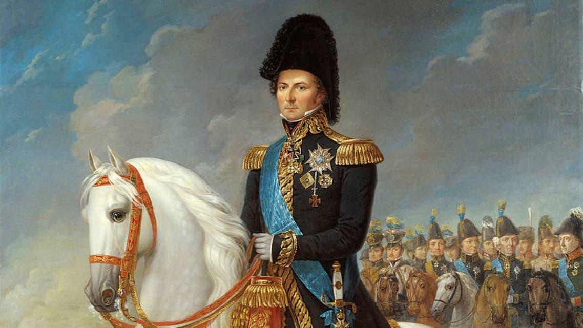 لوحة تجسد جان بابتيست برنادوت عقب حصوله على عرش السويد