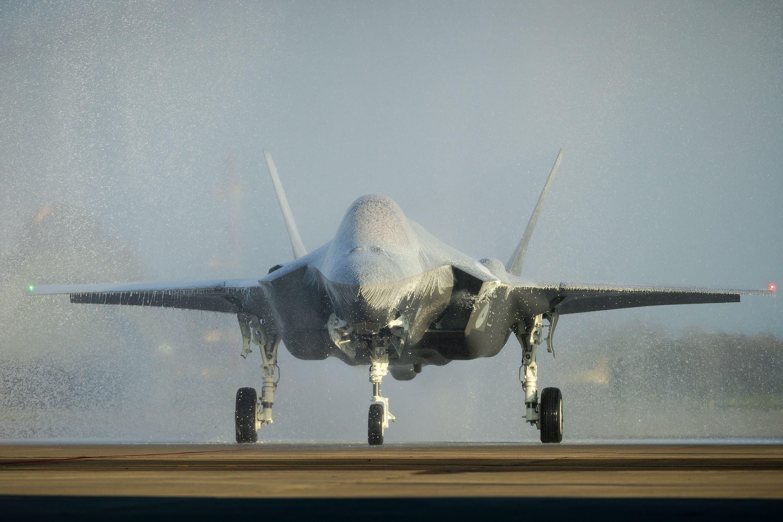 """مقاتلة من طراز """"إف. 35"""" في هولندا (أرشيفية)"""
