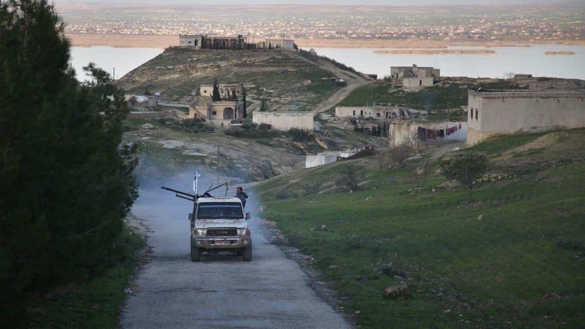 Turkey backed Syrian fighters Jarabulus Syria December 2018 AFP