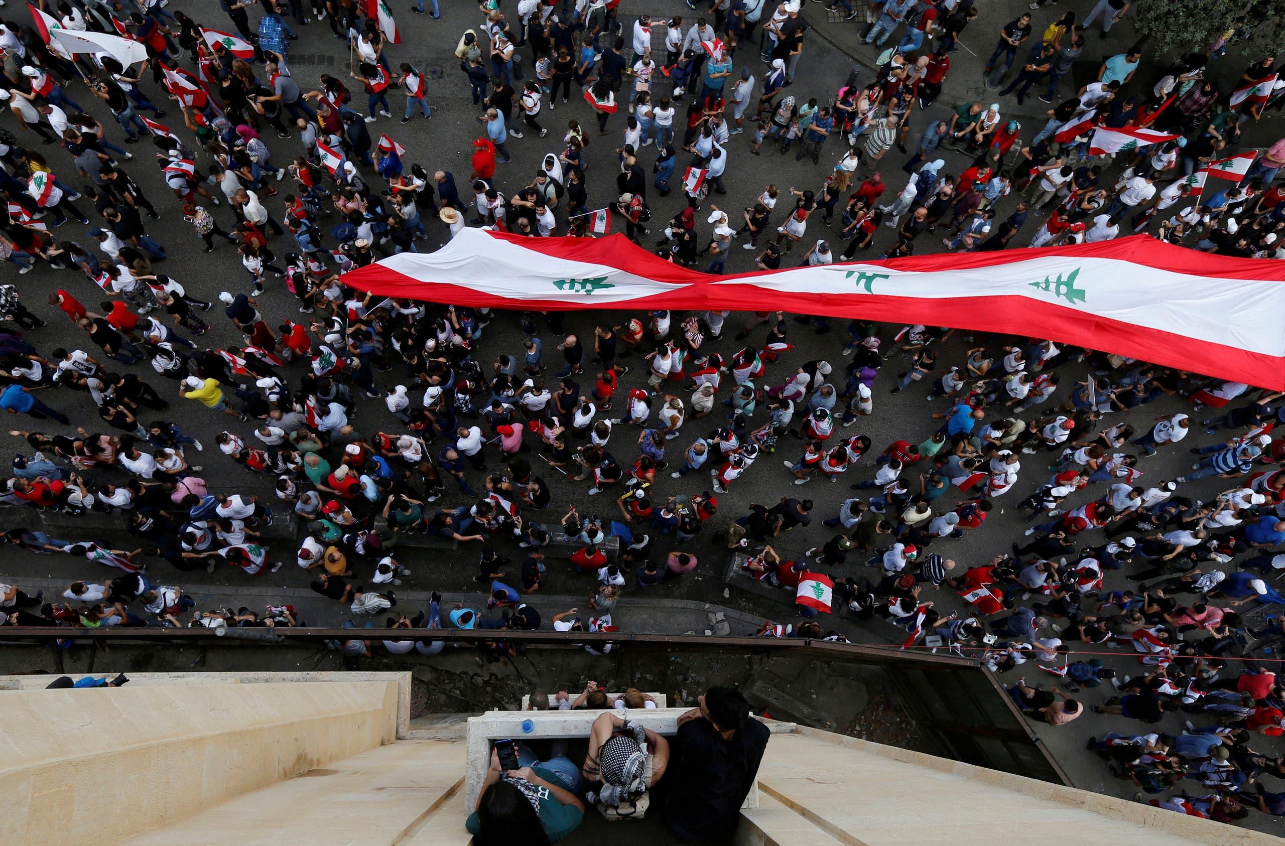 من تظاهرات لبنان