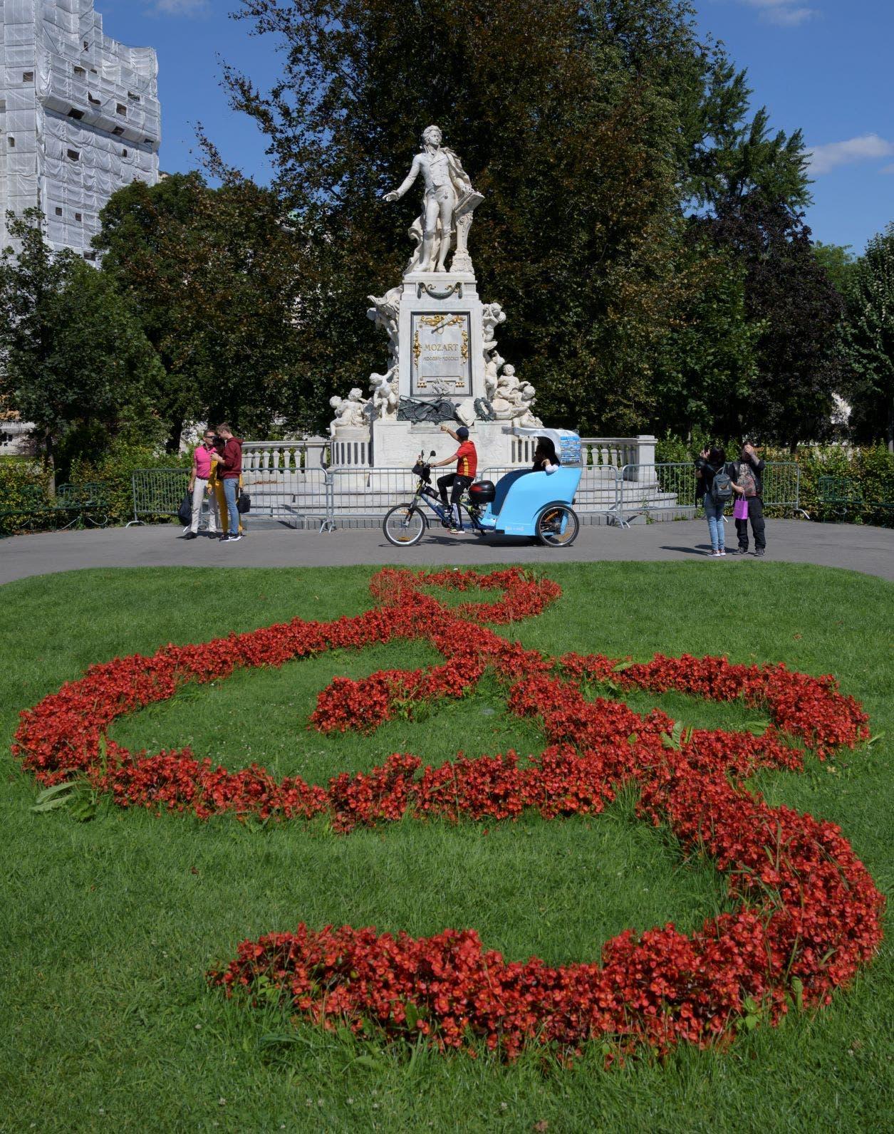 تمثال لمزارت في فيينا