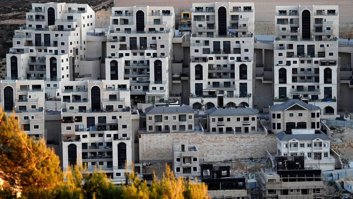 AFP September 2019 construction work in the Israeli settlement of Givat Zeev, near the Palestinian city of Ramallah in the occupied West Bank