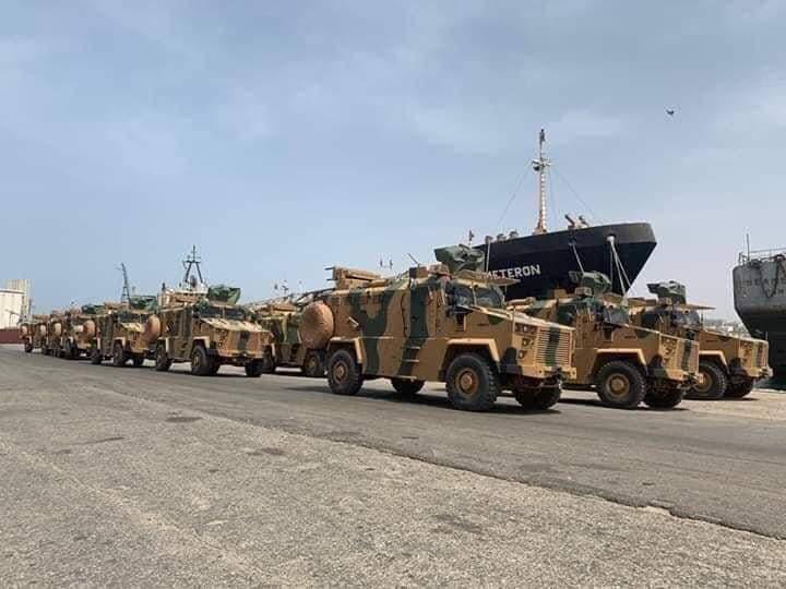 شحنة عسكرية سابقة وصلت لطرابلس من تركيا