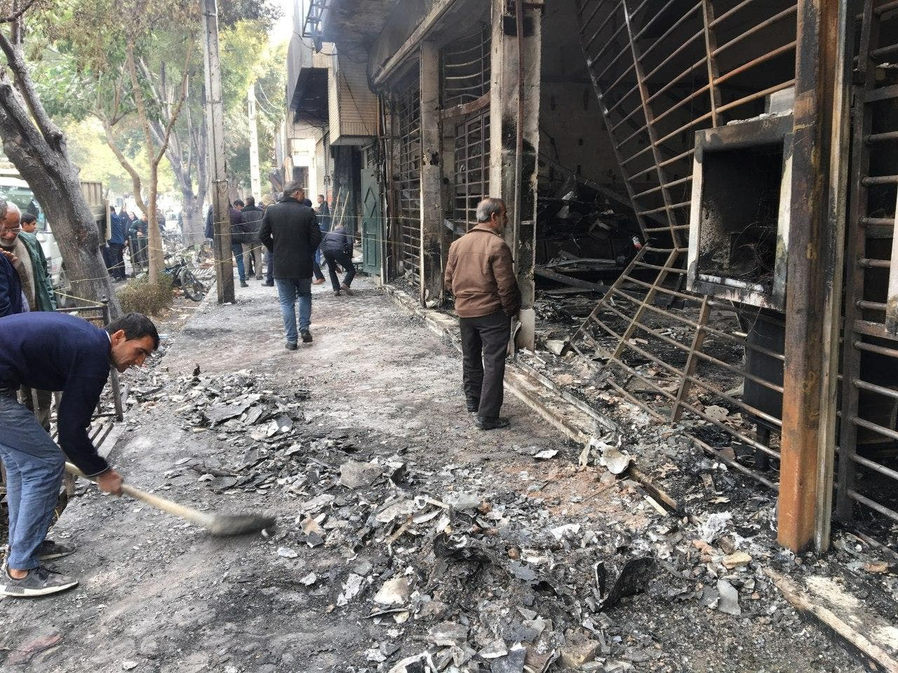 من احتجات إيران (فرانس برس)