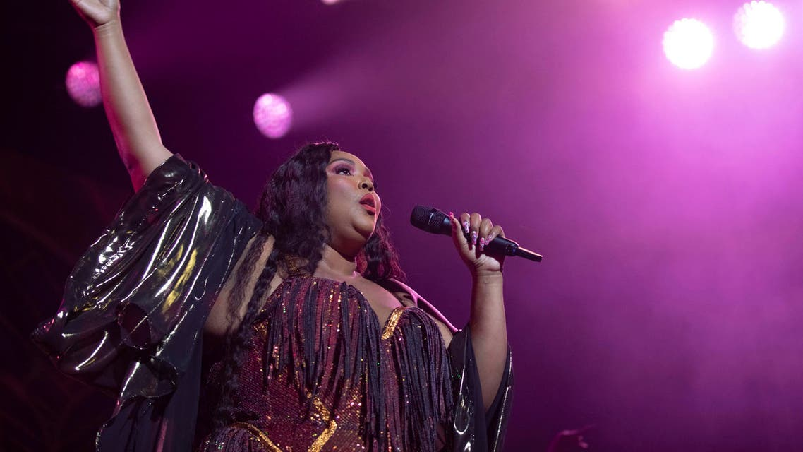 Singer/songwriter Lizzo performs on stage at The Anthem on Wednesday, Sept. 25, 2019, in Washington. (AP)