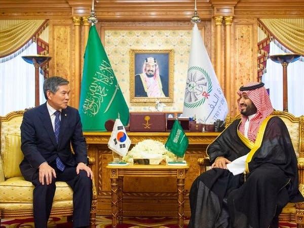 ولي العهد السعودي يستقبل وزير دفاع كوريا الجنوبية