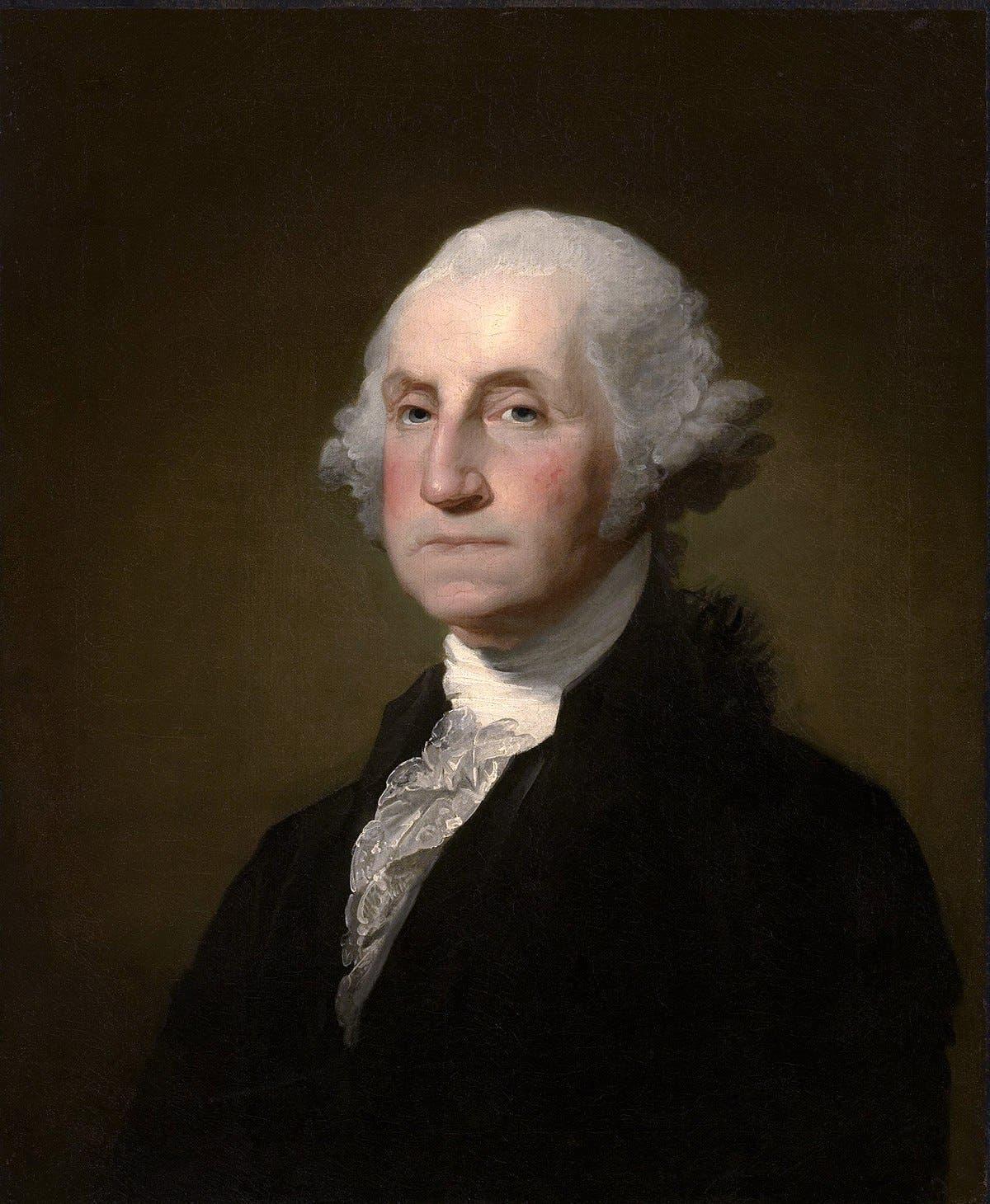 لوحة زيتية تجسد شخصية جورج واشنطن