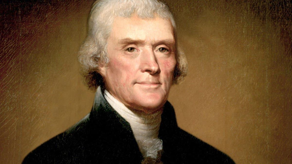 لوحة تجسد شخصية توماس جيفرسون