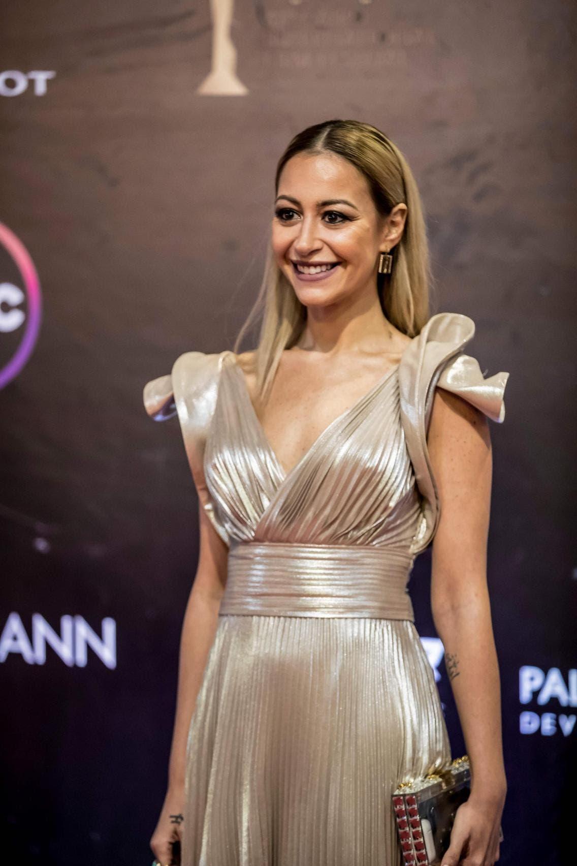 منة شلبي خلال افتتاح مهرجان القاهرة السينمائي الدولي