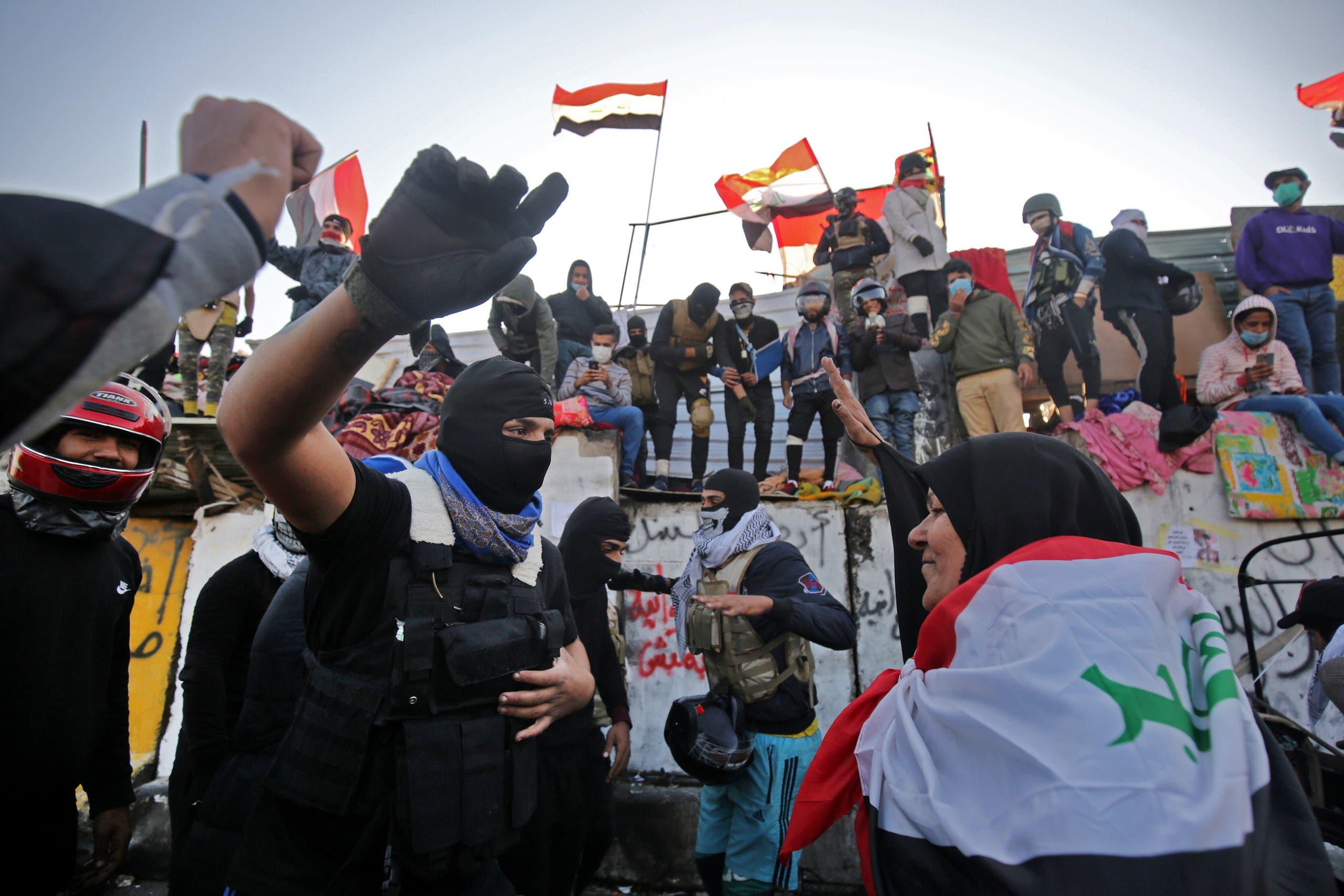 من جسر الأحرار في بغداد (فرانس برس)