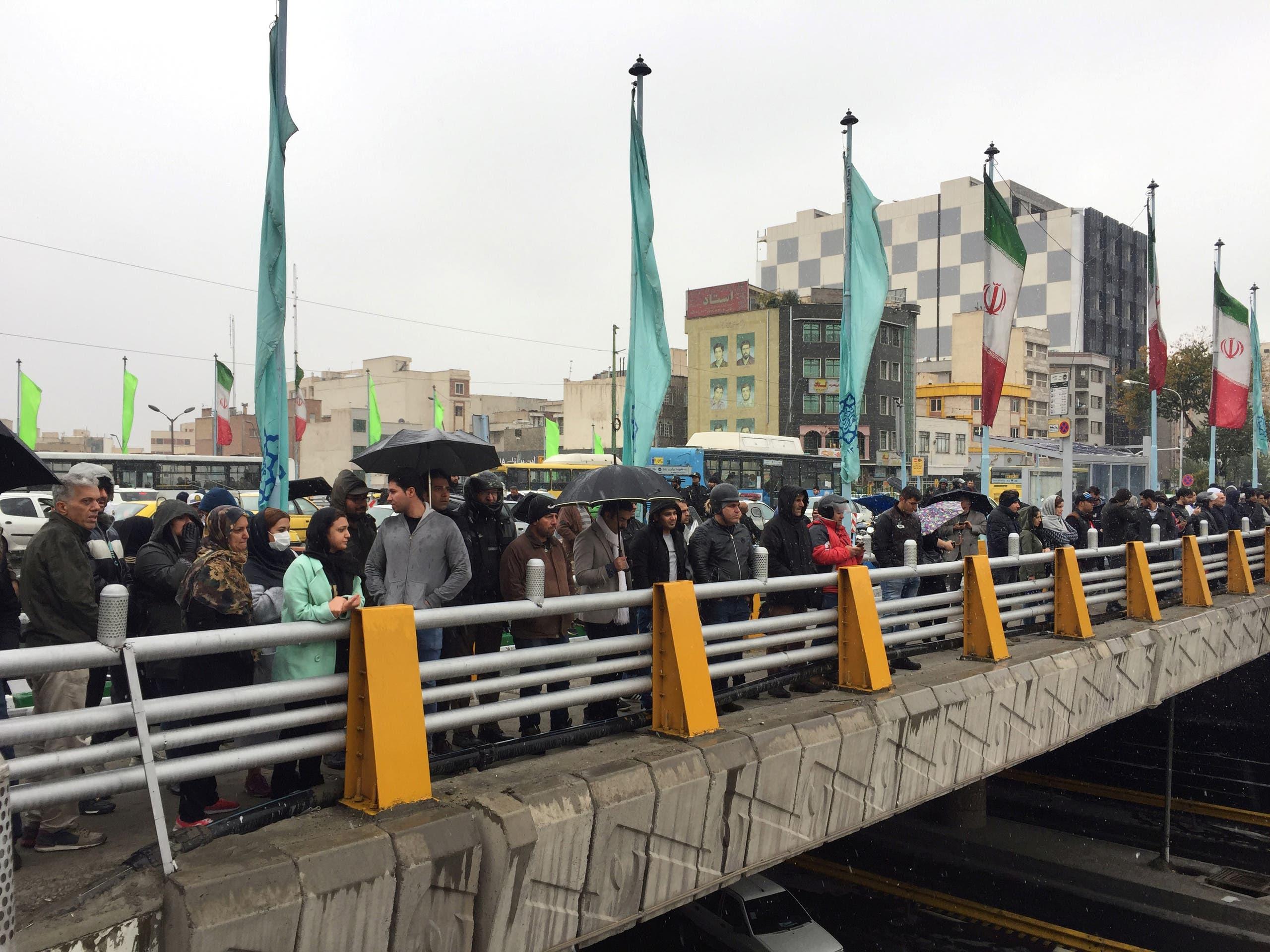 من الاحتجاجات في طهران (أرشيفية)