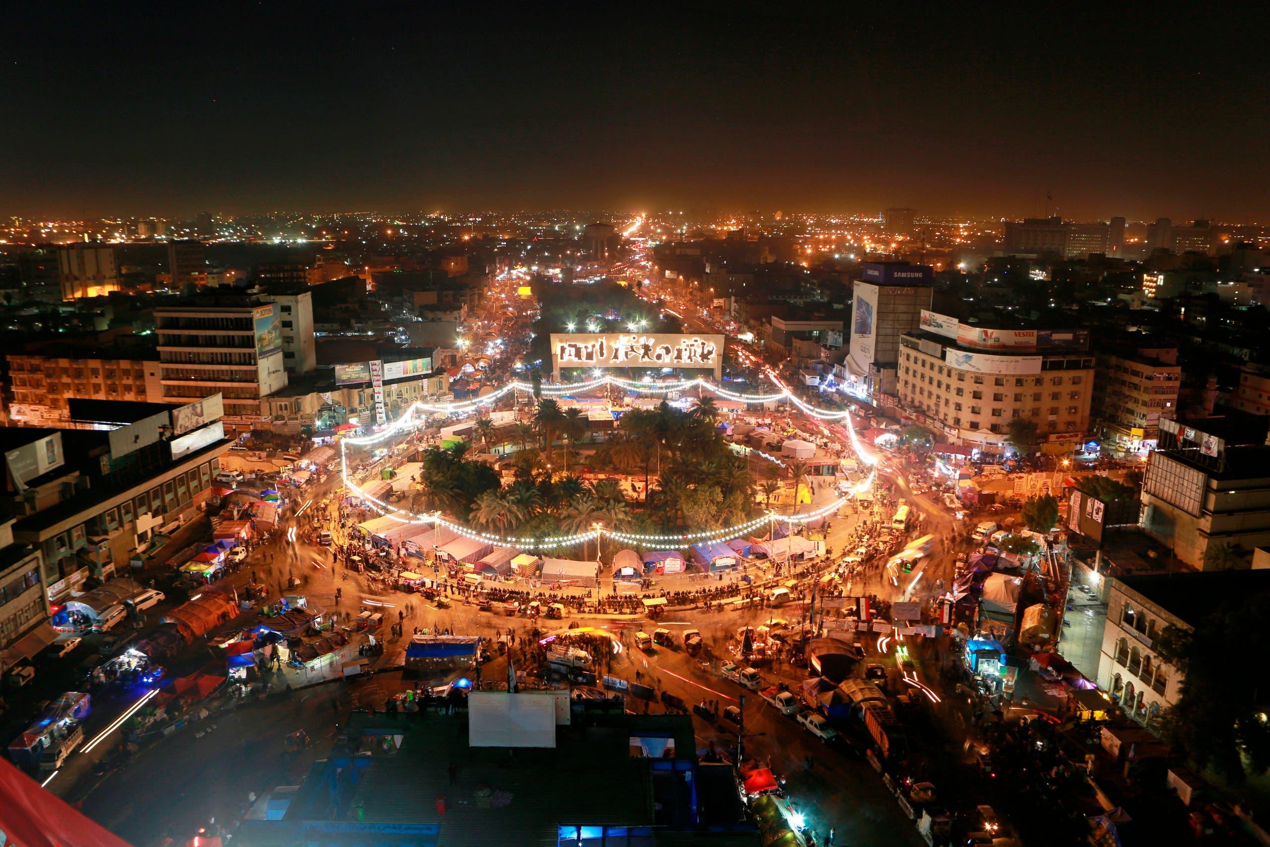 من احتجاجات العراق - ساحة التحرير