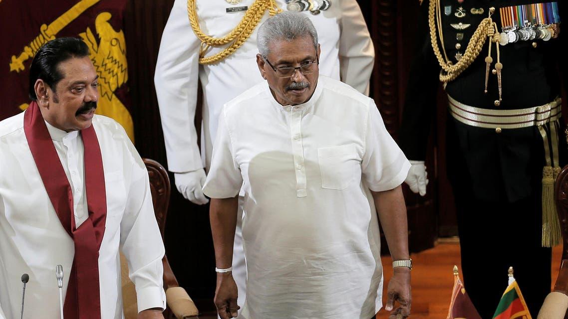 Gotabaya Rajapaksa President of Sri Lanka being sworn in on November 21, 2019 - Reuters