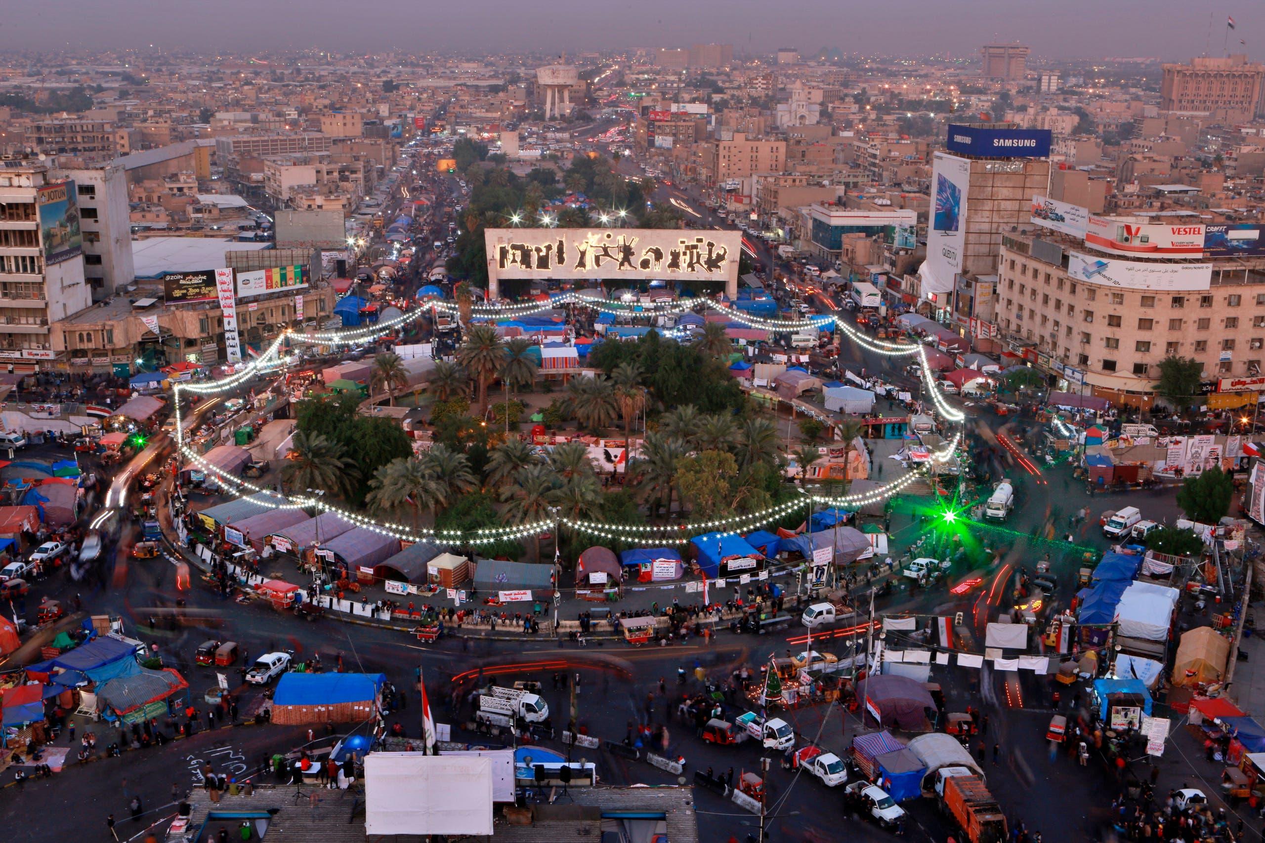 احتجاجات العراق - ساحة التحرير