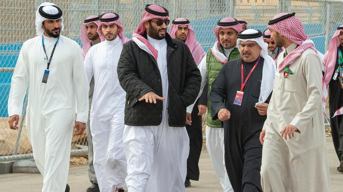 Saudi Crown Prince Mohammed bin Salman at ABB Formula E (SPA Twitter)