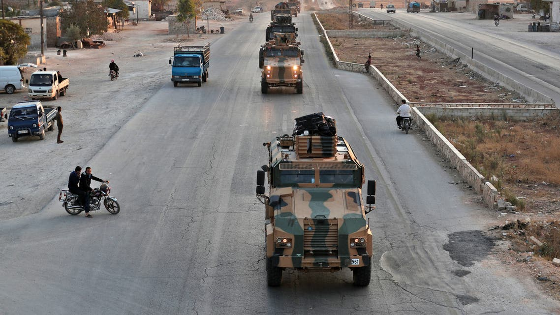 AFP TURKEY Turkish military reinforcements are pictured driving through Khan al-Sobol, 10 kms south of Saraqeb in Syria northern Idlib province on November 13 2019