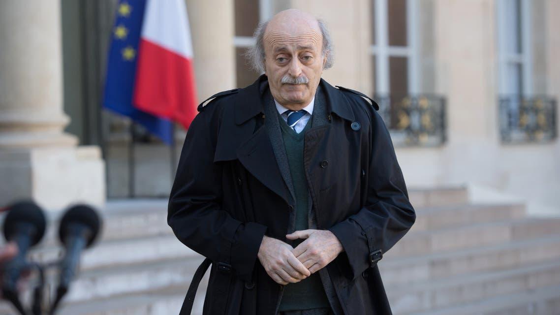 Walid Jumblatt Elysee Palace Paris June 2014 AFP