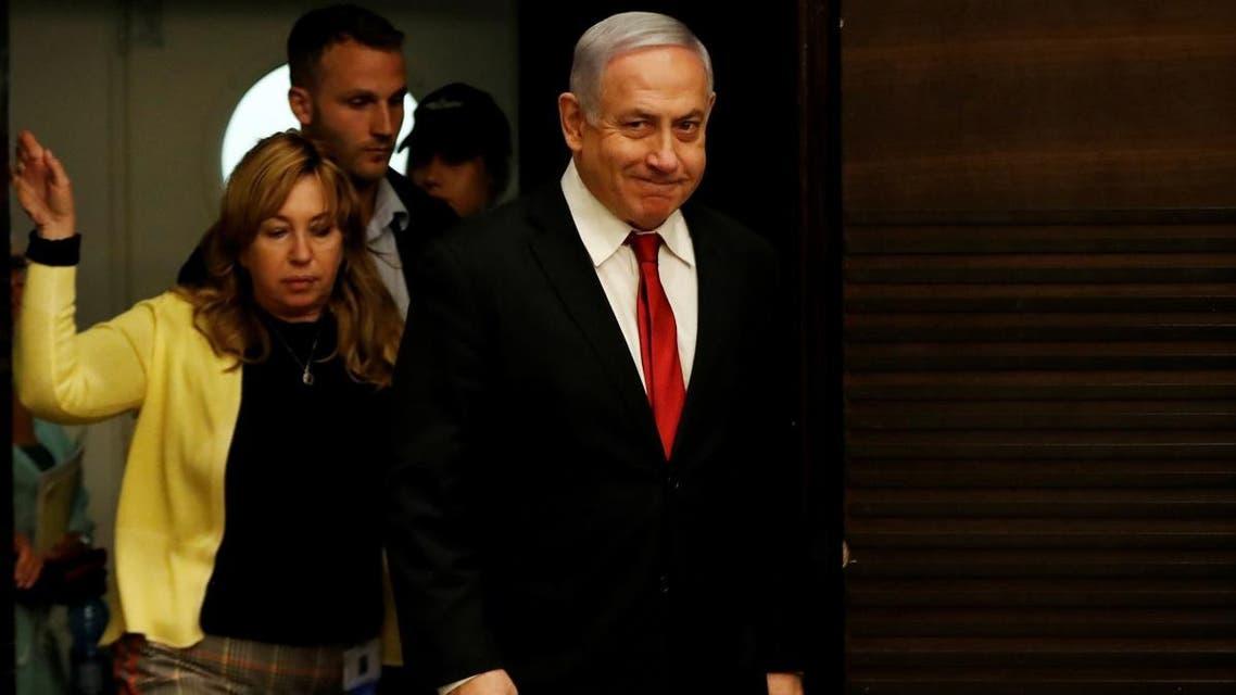 Israeli Prime Minister Benjamin Netanyahu arrives to deliver a statement during a news conference in Jerusalem, on September 18, 2019. (Reuters)