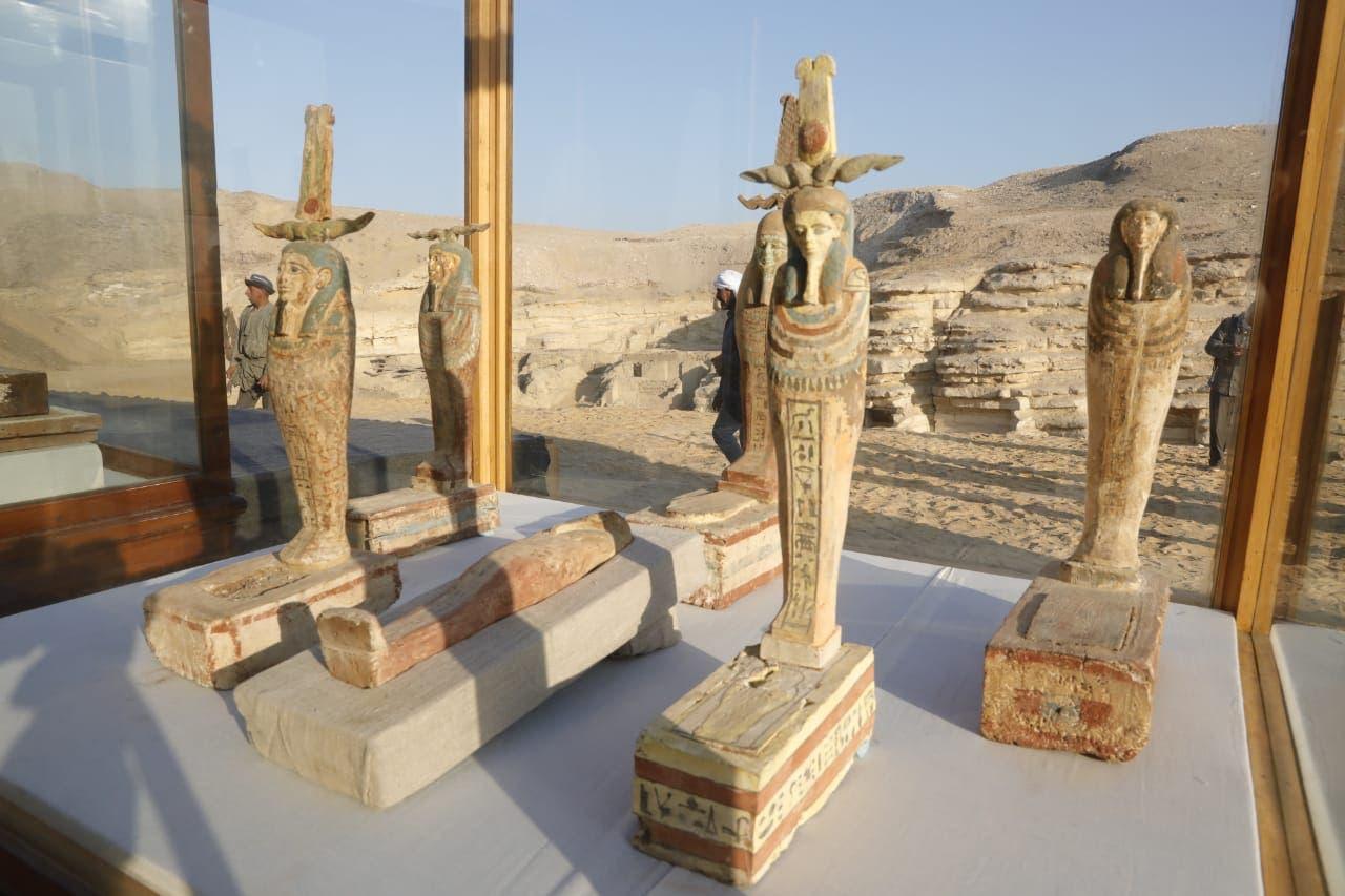 من الآثار المصرية المكتشفة