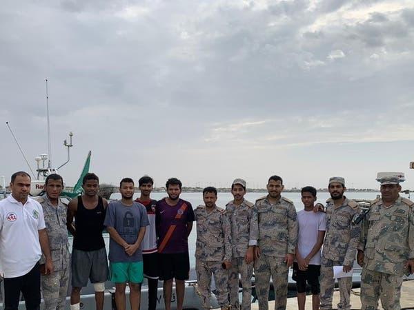 """السعودية.. حرس الحدود """"الليث"""" ينقذ 6 أشخاص من الغرق"""